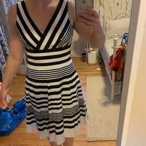 White House black market striped a line dress